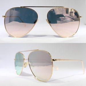 Accessories - Gold aviator framed sunglasses w. Rose gold lens